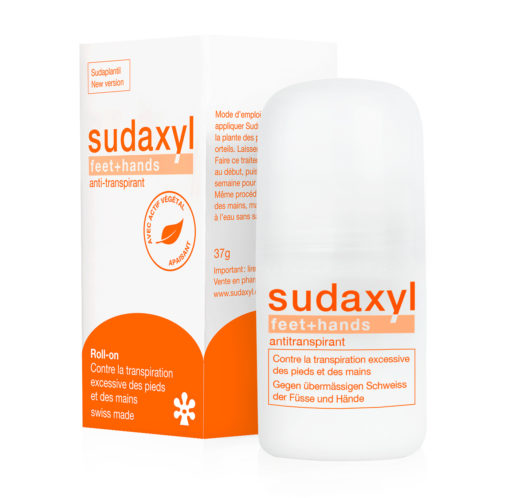 Anti-transpirant sudaxyl feet+hands roll-on et étui FR
