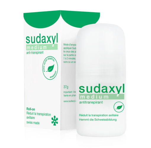 Anti-transpirant sudaxyl medium roll-on et étui FR